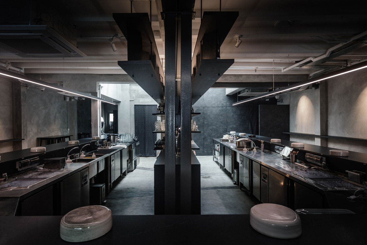 Rappu is a brutalist sushi joint in Singapore
