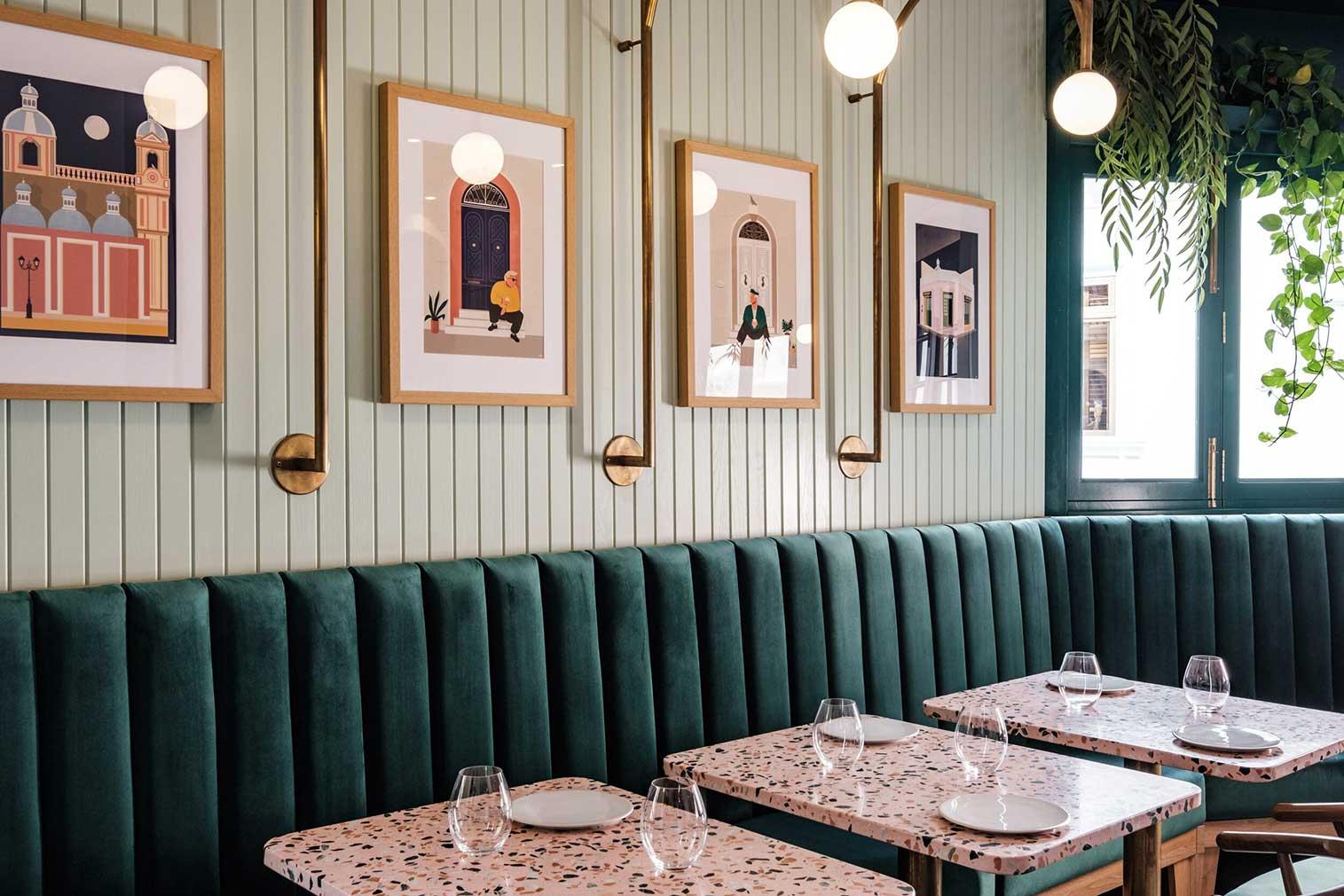 Malta's Barbajean restaurant is a jewellery-box of colours