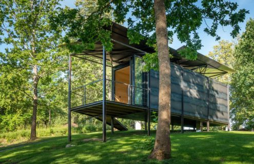 019 Cabin is the architectural pavilion of prefab homes