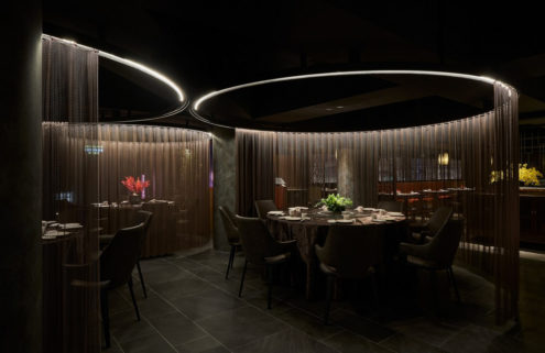 Chinese mythology and garden design inform the interiors of this Taipei restaurant