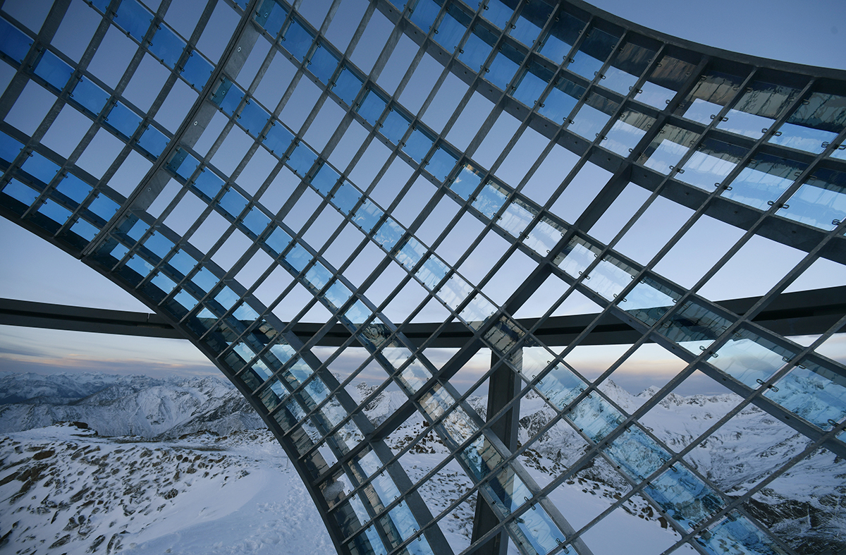 Our Glacial Perspective installation in the Alps by Studio Olafur Eliasson