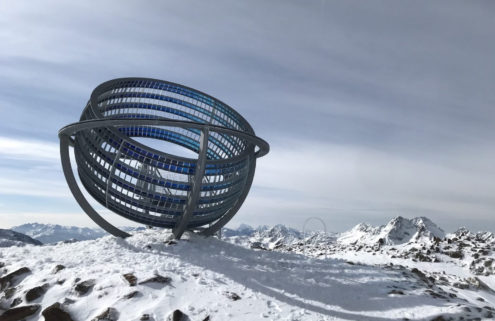 Olafur Eliasson's latest artwork is located atop a mountain in the Alps