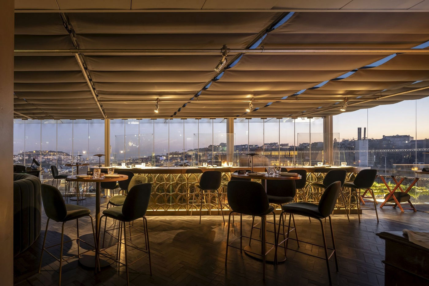 Biophilic Lisbon restaurant Seen invites diners to an art-deco forest