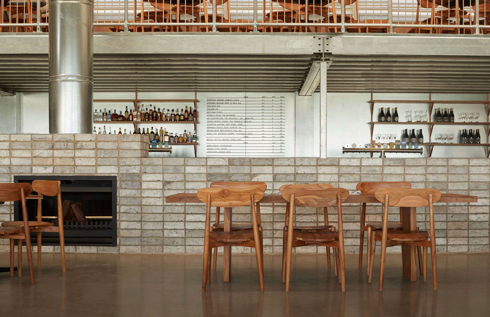 The Melbourne restaurant is the fifth Three Blue Ducks to open in Australia, and is located inside the Urbnsurf sports park in Tullamarine.