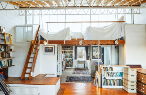 Riverside living is on offer at this artist's house and studio in west London