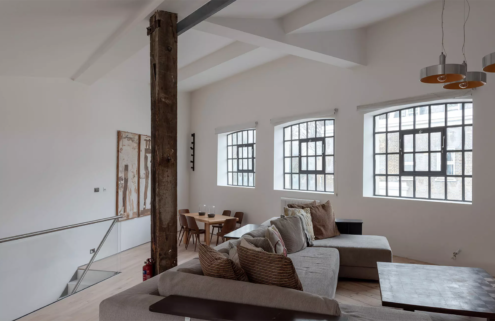 Converted chewing gum factory is for rent in South London