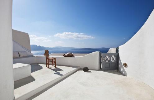 Inside a cliffside Santorini retreat – listed for €575k