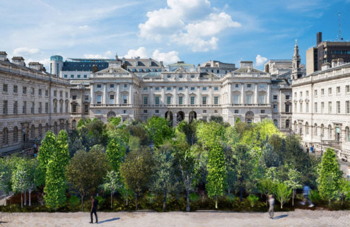 Es Devlin will turn Somerset House's courtyard into an 'urban forest'