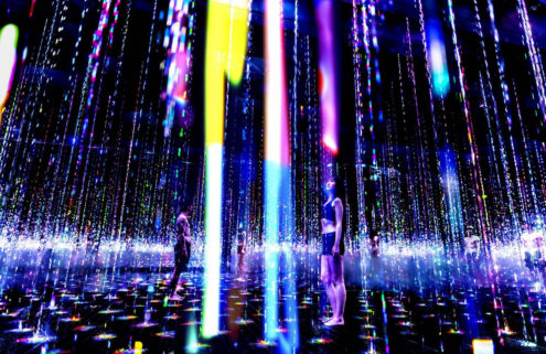 Teamlab unveils a sauna where you can literally bathe in art