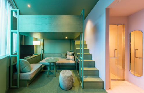 Interiors of Tokyo's Toggle Hotel pack a colourful punch