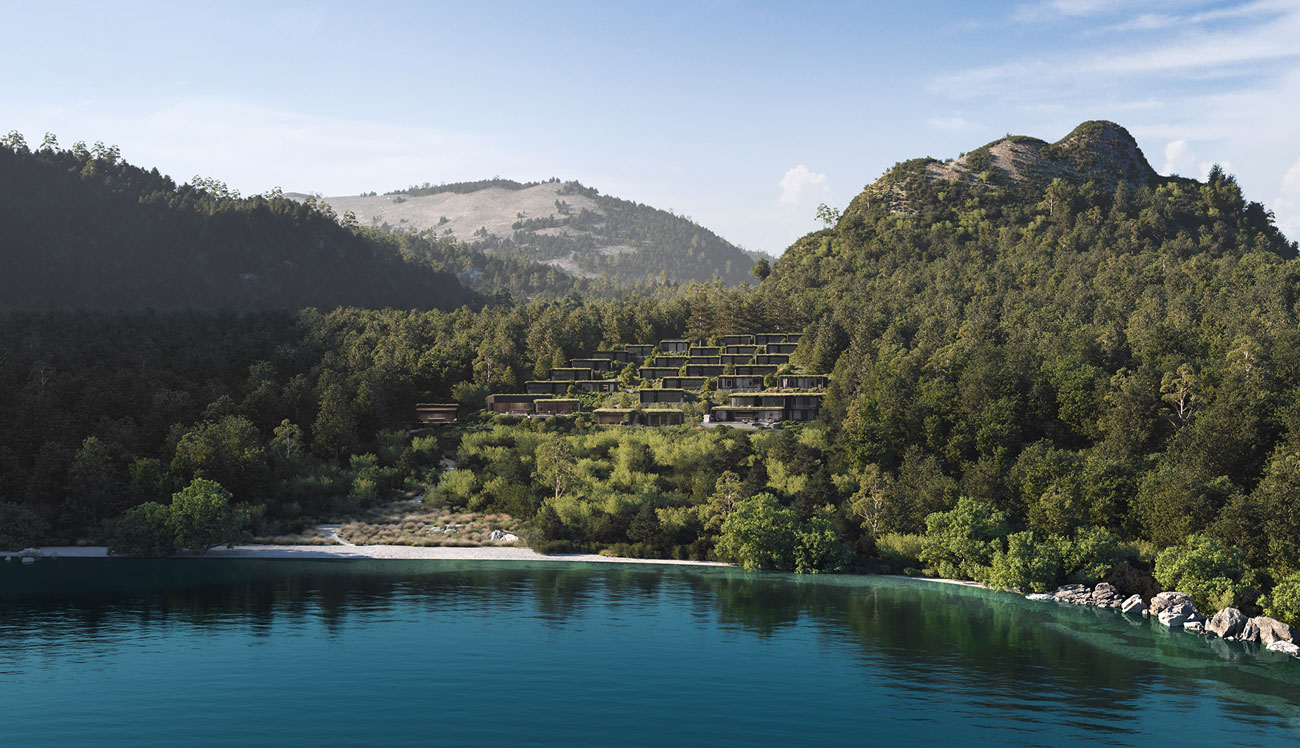 Eco-friendly Waimarino Luxury Lodge development in New Zealand