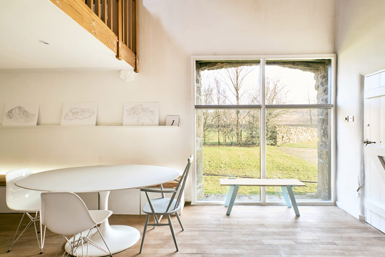 Wildman's Barn is for sale with The Modern House for £800,000, and interiors are refined and minimalist, with a soft edge. Think modern country living with white-washed walls and warm woods throughout.