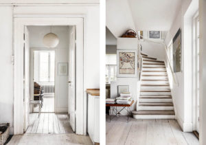 Original floorboards run throughout the property