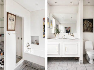 Rooms have period features but have been updated via an all-white colour palette