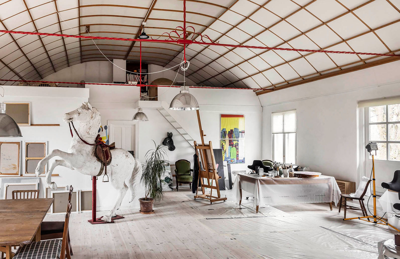 A converted theatre on the outskirts of Copenhagen is for sale