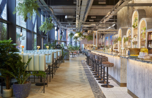 Bondi Green is a 'raw but refined' restaurant in London's Paddington Basin