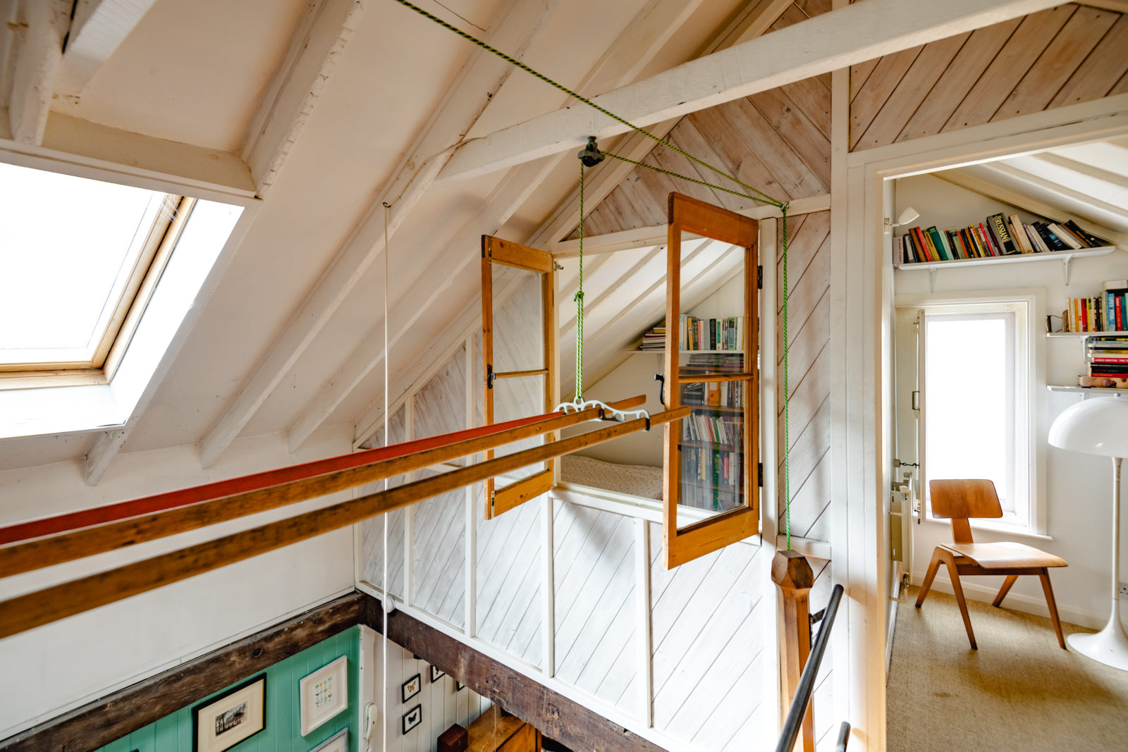 The two-bedroom home has been very lightly converted, changing little of its character despite its change of use