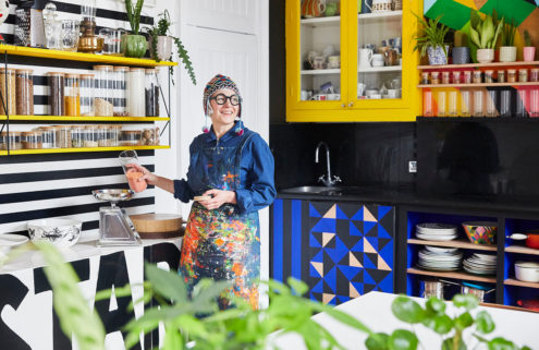 Colour is king at designer Morag Myerscough's East London home