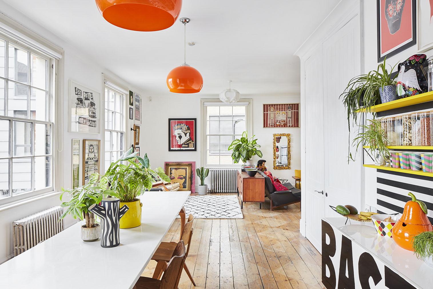 Colour is king at designer Morag Myerscough's East London home