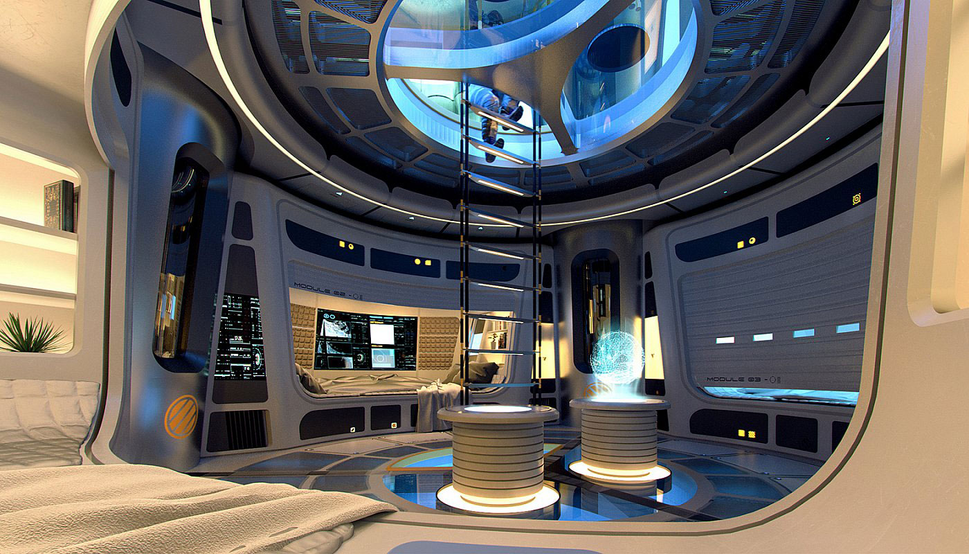 The interior of the Moon Pod