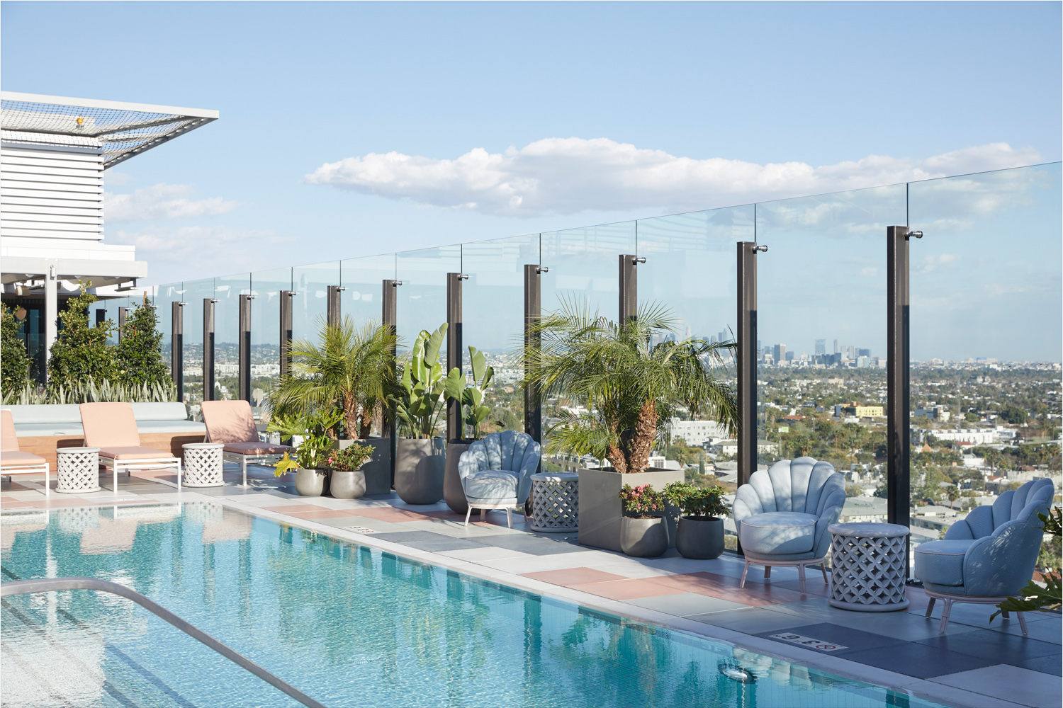 The Britely includes a rooftop pool, terrace and cabana bar