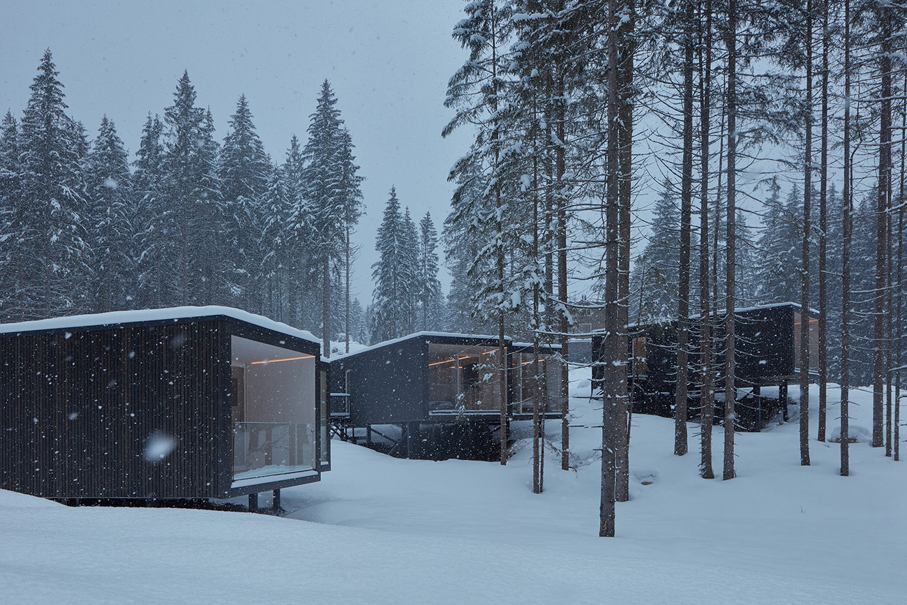 Hotel Bjornson's chalets are a beautifully stark take on the mountain cabin