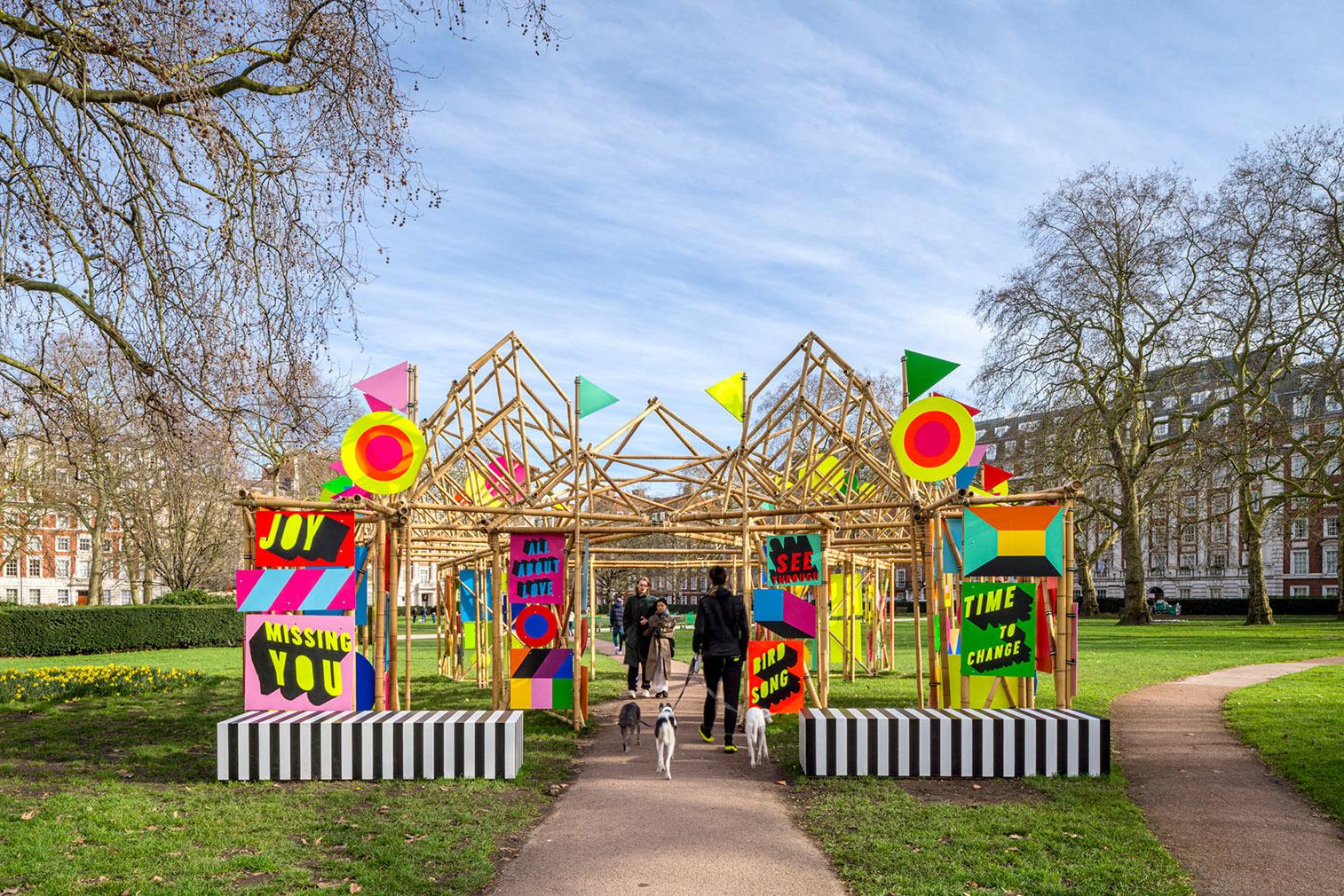 Morag Myerscough's 'See Through Pavilion'