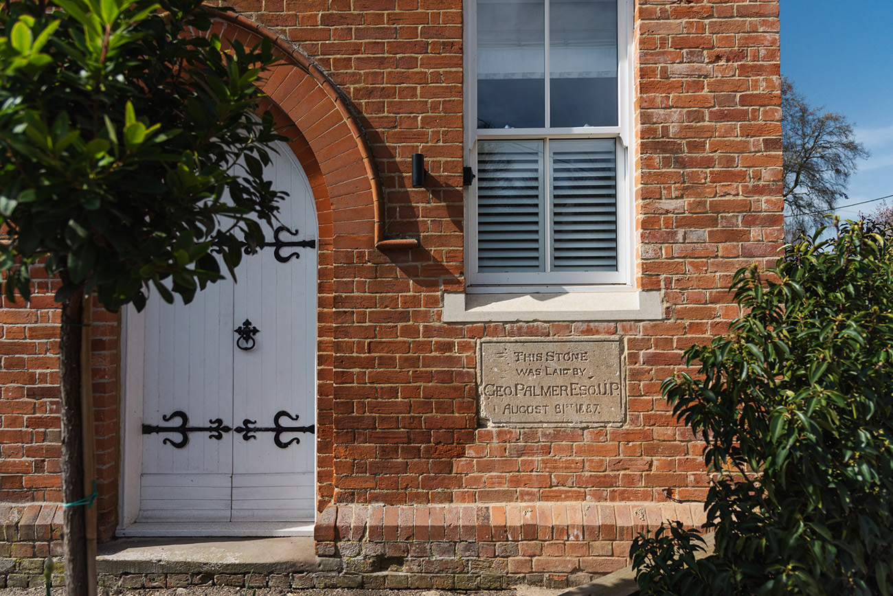 The cornerstone of the Old Chapel