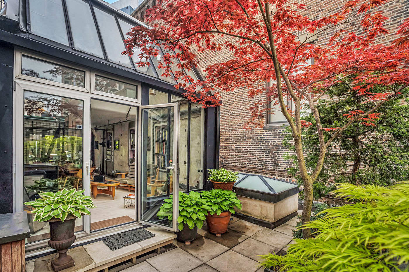 The Manhattan property has a leafy terrace