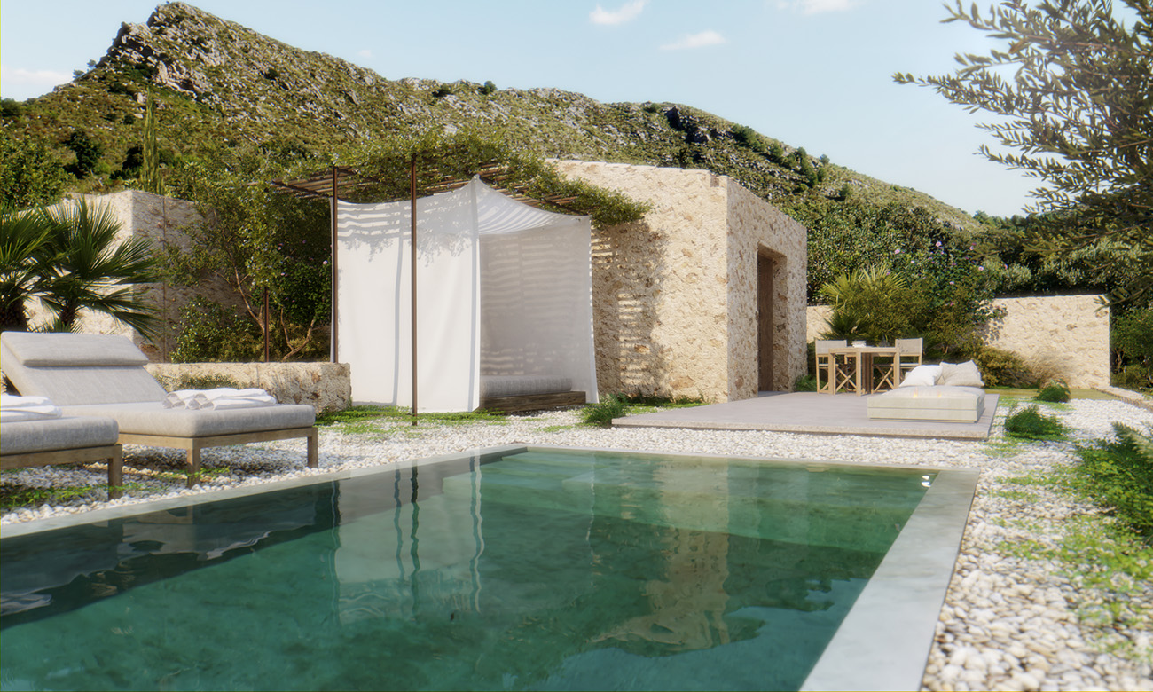 This wellness retreat on the coast of Palma sits in over 200 hectares of land, giving guests plenty of space to hike and bike after a morning of meditation.