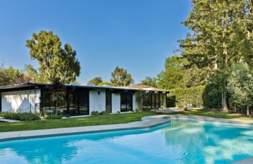 Halsey lists her midcentury modern home in LA's Sherman Oaks