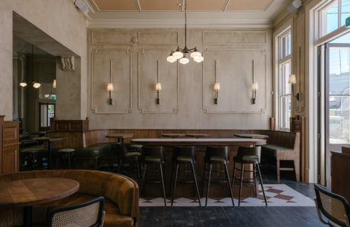 This Auckland hotel bar channels a 1930s British boozer