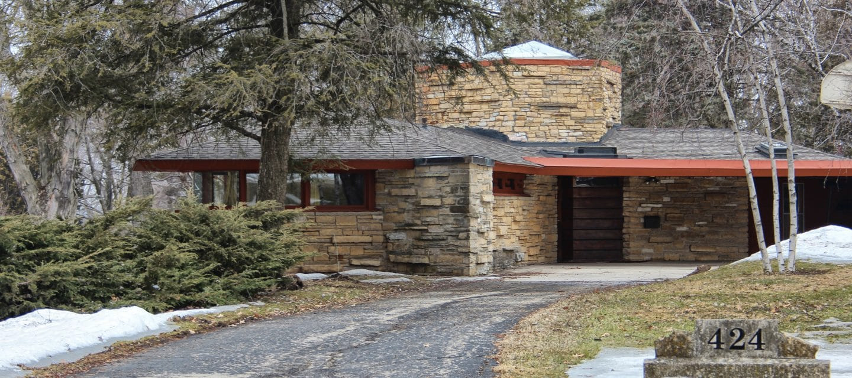 Kinney House in Texas. Via Frank Lloyd Wright Foundation