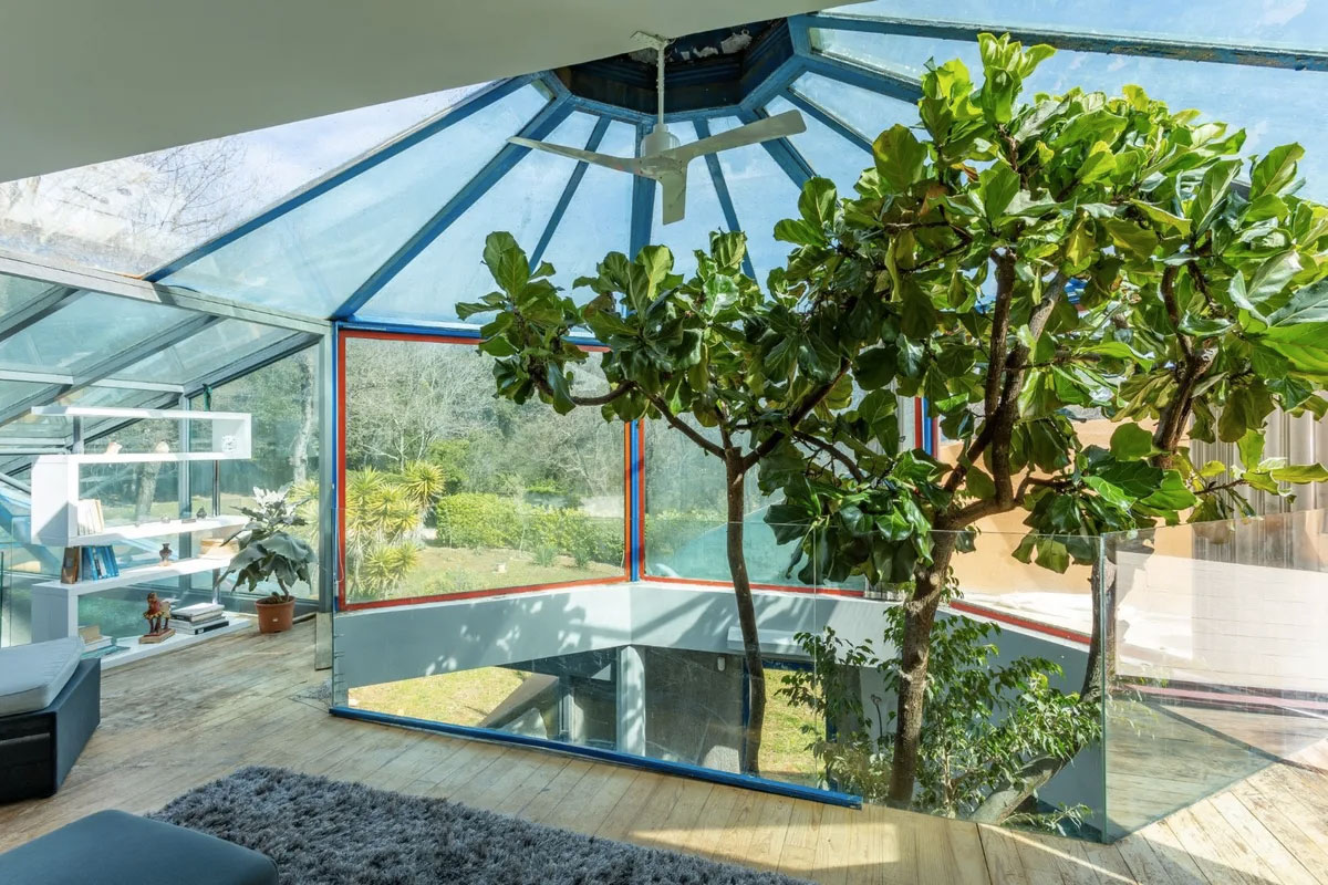 Views of the forest can be enjoyed from the top floor
