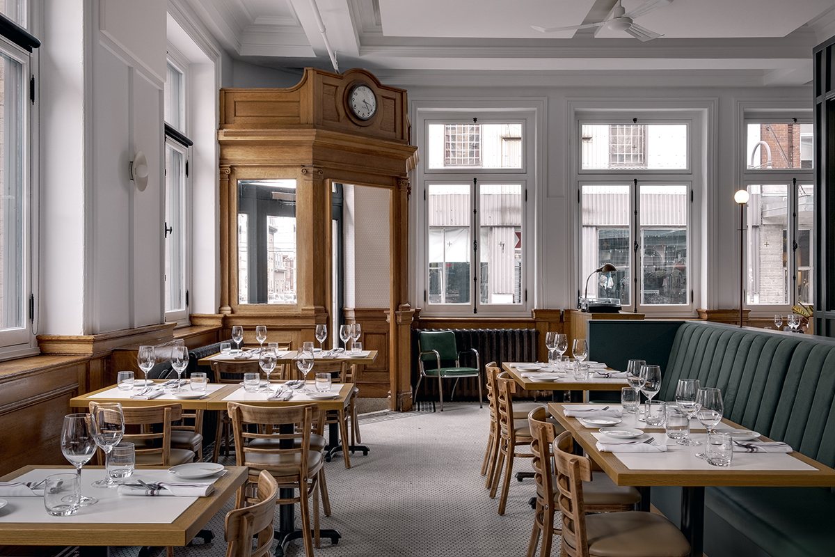 The colour palette pays homage to the building's Edwardian roots