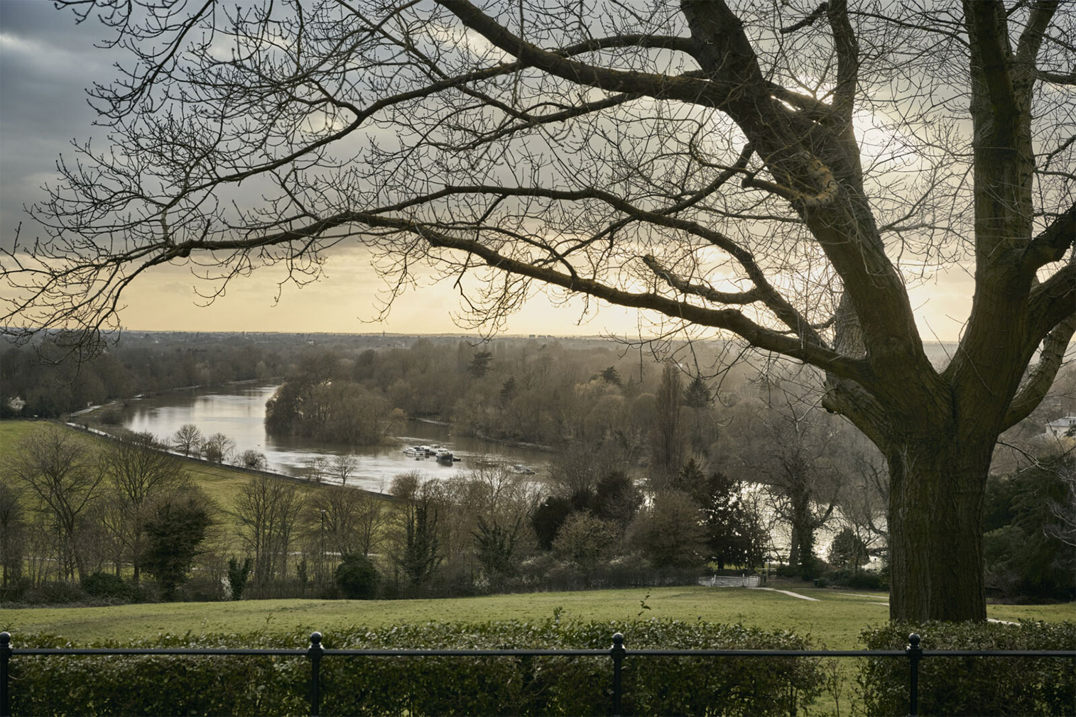 Views from The Vineyard property's gardens take in the Thames