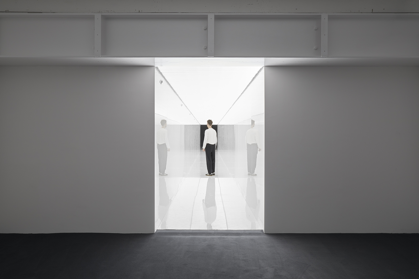 Installation view Ryoji Ikeda at 180 Studios, 180 The Strand