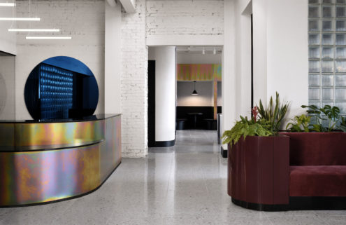 Montreal's Spacial is a coworking space with an iridescent edge