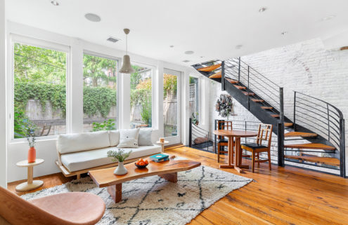 This historic Boerum Hill rowhouse plays with tradition