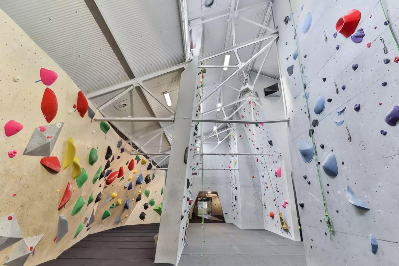 Inside Joe Rockhead's – Canada's first indoor climbing gym, established in 1990