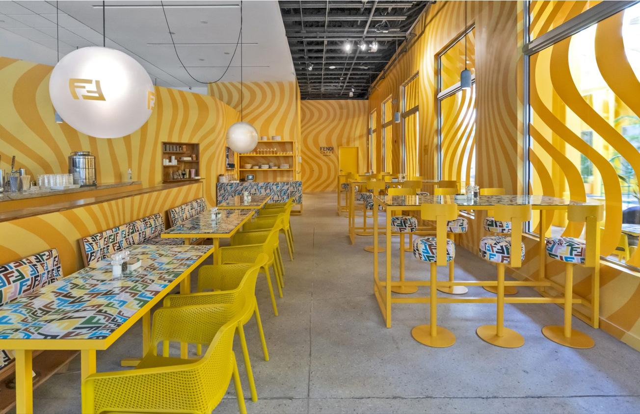 Inside the new pop-up Fendi Caffe in Miami's Design District