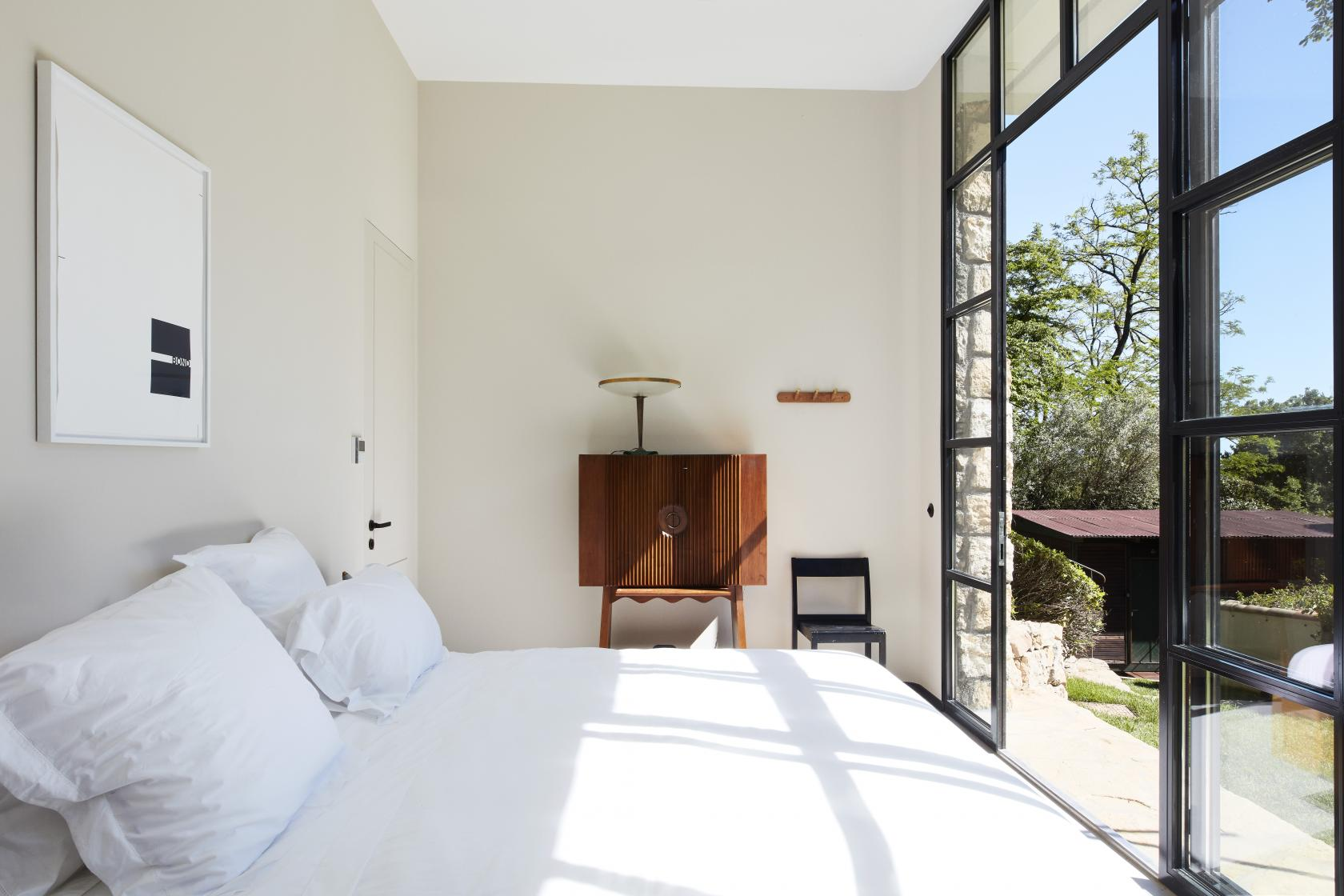 Rooms at the gallery-cum-hotel start from €250 per night