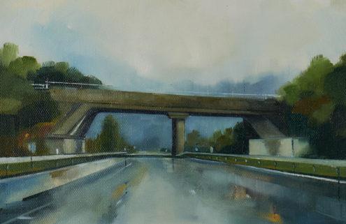 Jen Orpin paints Britain's motorways