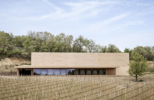 Architecture fuses with the landscape at this winery in Southern France