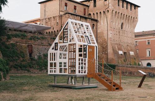 Federico Babina's Lunette pavilion celebrates the 'eyes' of architecture