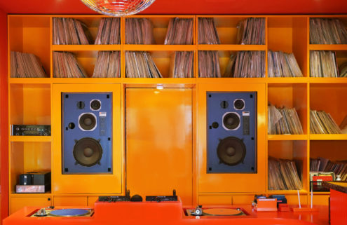 Bandung's Peels Records is a sound bar with a retro 1970s vibe