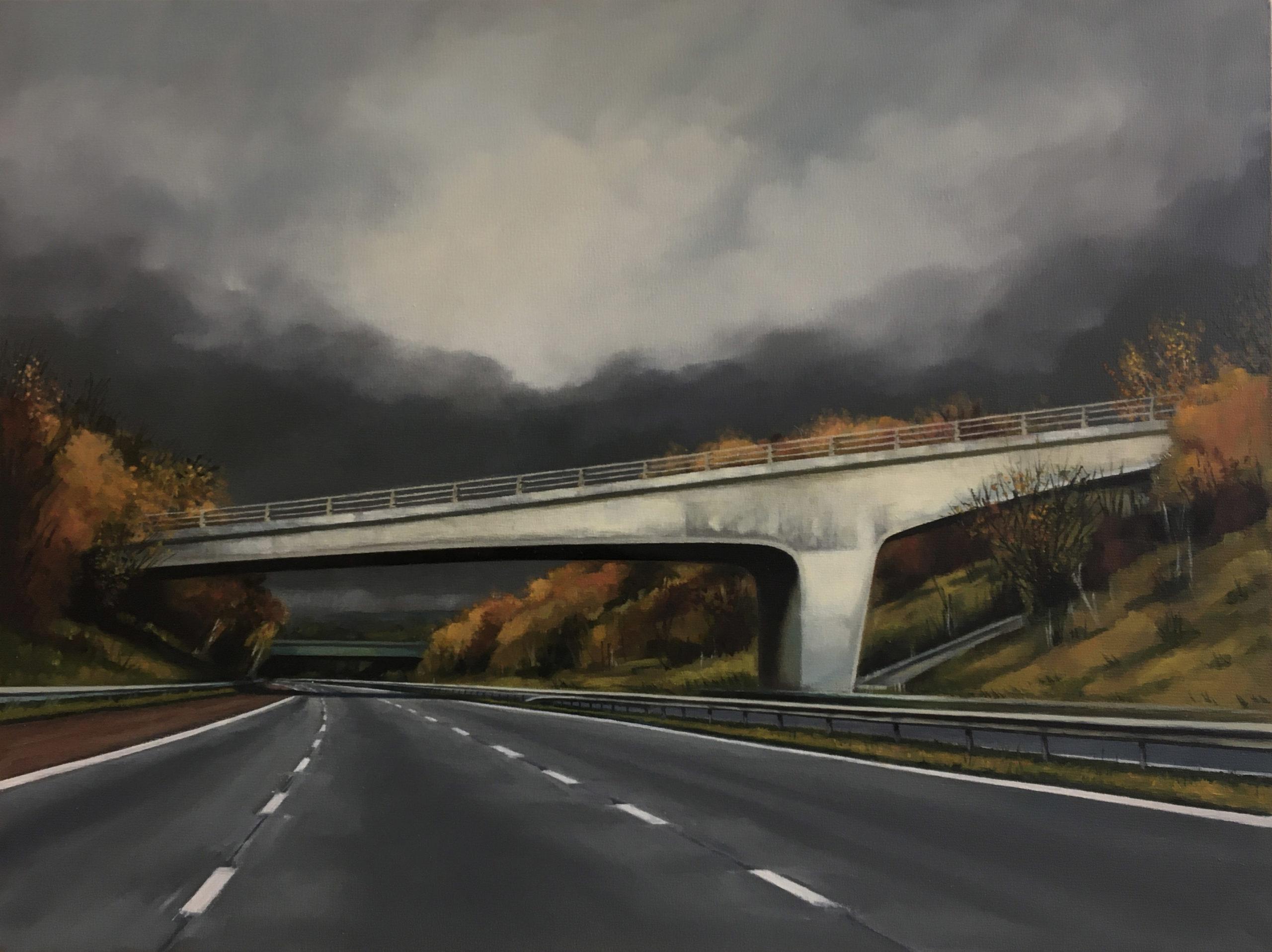 'Snowhill Lane Bridge, M6' by Jen Orpin (c)