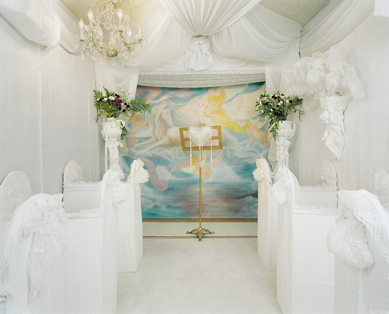 The Angel Chapel, Las Vegas' by Jane Hilton. Part of For Better Or For Worse at the Solaris Gallery, Hastings. Courtesy of the artist and gallery