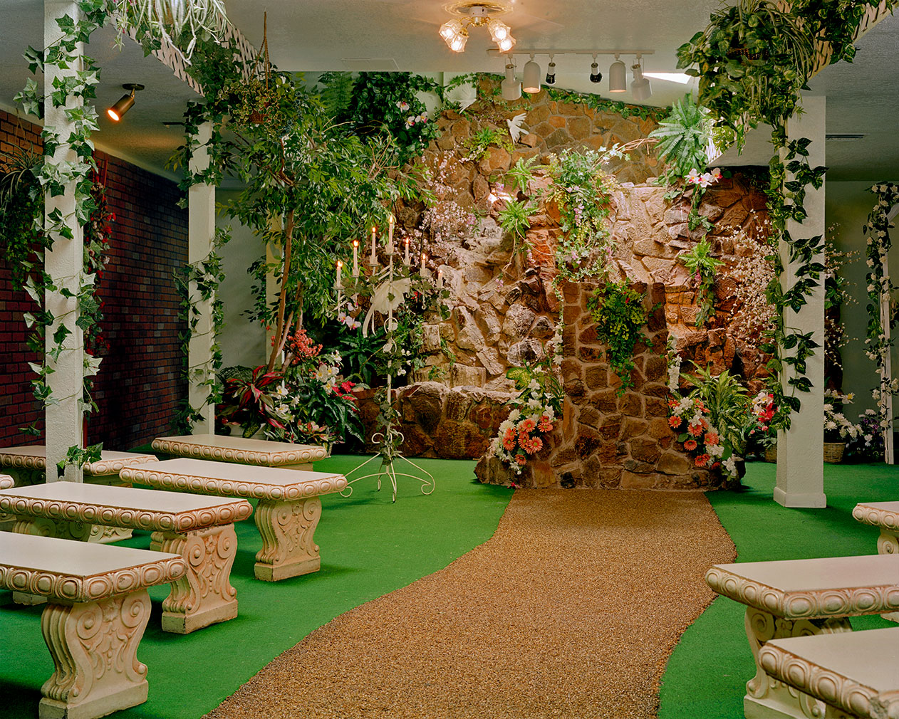 'The Garden Wedding Chapel', Las Vegas by Jane Hilton. Part of For Better Or For Worse at the Solaris Gallery, Hastings. Courtesy of the artist and gallery