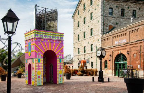 Toronto's Distillery District is hosting a series of brightly coloured pavilions